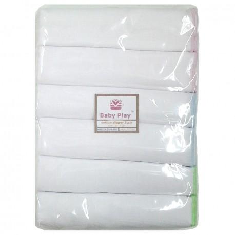 ผ้าอ้อมคอตตอน 29' x29' พื้นขาว เกรด A