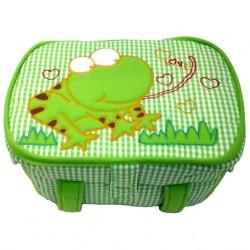 ตะกร้าหุ้มผ้า ลายเคโระ ขนาดกลาง สีเขียว